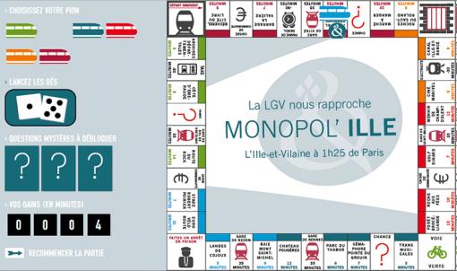 Monopol'Ille, le jeu en Ligne à grande vitesse