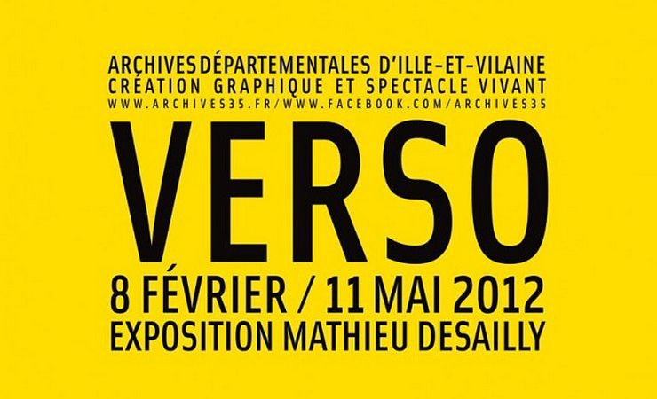 "Affiche exposition ""VERSO"" - M.Desailly"