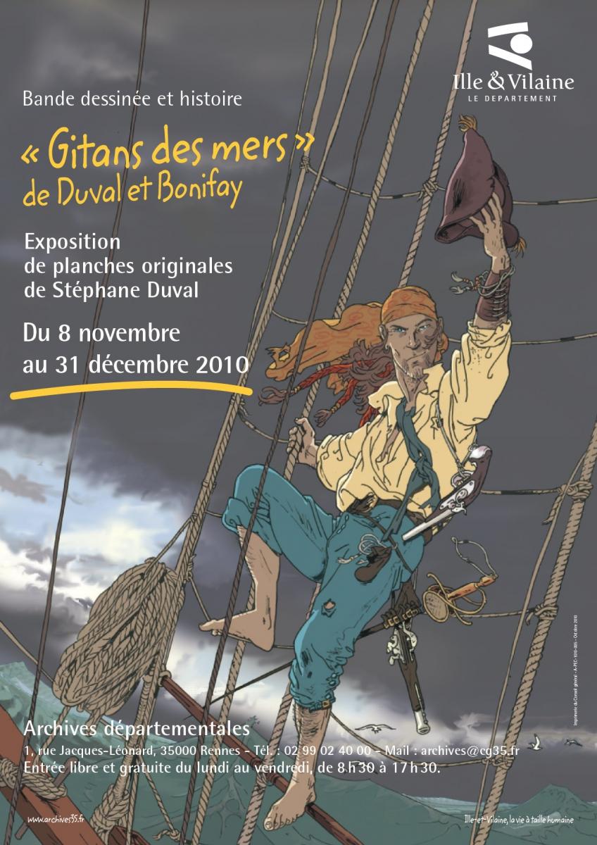 """l'affiche de """"Gitans des mers"""" de Duval et Bonifay"""